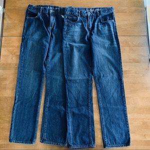 Boys Dark Wash Jeans. 2 pair. Size 14.